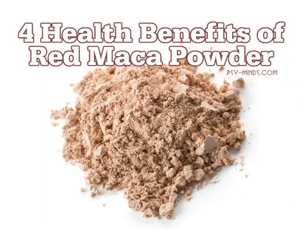 4 Health Benefits of Red Maca Powder